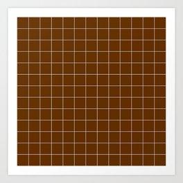 Brown squares Art Print