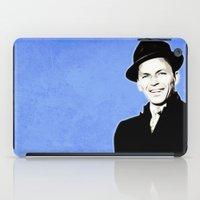 frank sinatra iPad Cases featuring Frank Sinatra - My Way - Pop Art by William Cuccio aka WCSmack