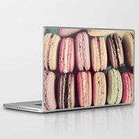 macarons Laptop & iPad Skins featuring Macarons by elle moss