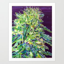Green Tone Art Print