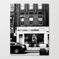 Pittsburgh Guitars Canvas Print