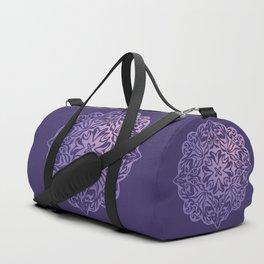 Polynesian style tattoo mandala purple Duffle Bag