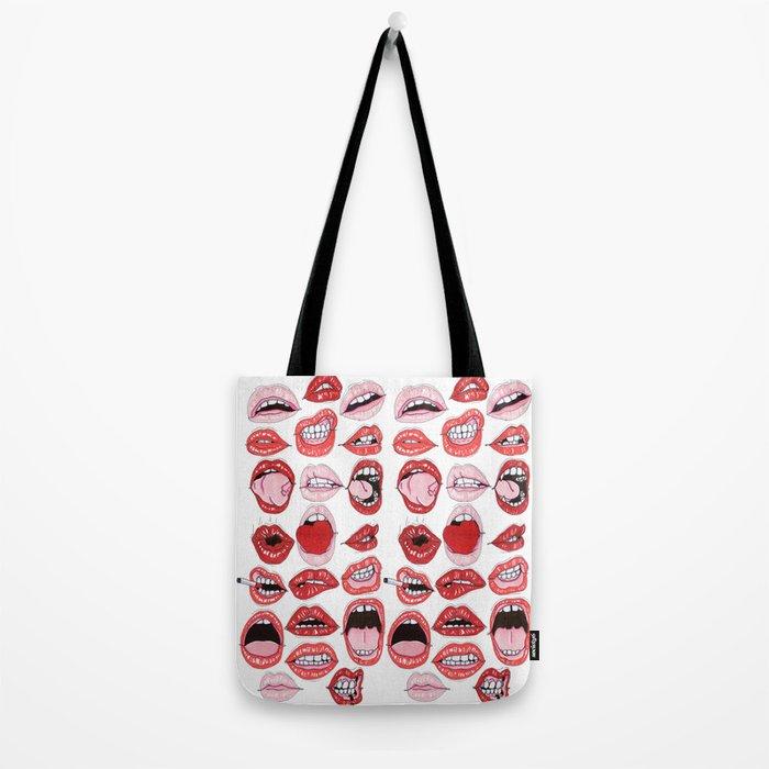 Lip Action Tote Bag
