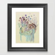 Thistle_tangle Framed Art Print