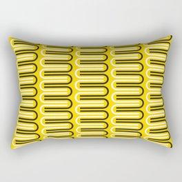Geometric Pattern 235 (yellow curves) Rectangular Pillow