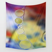 bubbles Wall Tapestries featuring Bubbles by Brian Raggatt