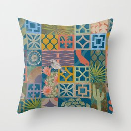 Palm Springs Modern Throw Pillow