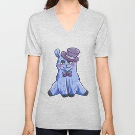 funny purple Lama cylinder Animal Gift Unisex V-Neck