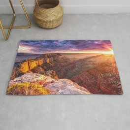 Purple Sunset at the Grand Canyon Rug