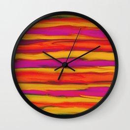 Tropical Beach Sunset Paradise Wall Clock