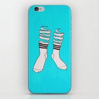 socks iPhone & iPod Skins featuring SOCKS by The Flying Fortress