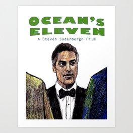 Ocean's Eleven Art Print