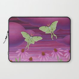 echinacea daydream with luna moths and snails Laptop Sleeve