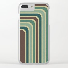 Retro Stripes Pattern Clear iPhone Case