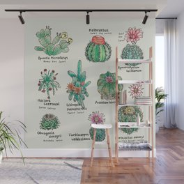 Cactus Dictionaly page1 Wall Mural