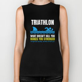 Triathlon Swimming Shark  Biker Tank