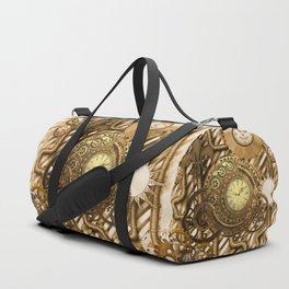 Wonderful steampunk design, awesome clockwork Duffle Bag