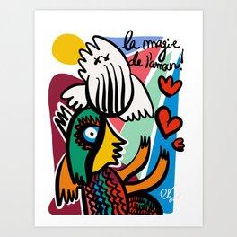 La Magie de L'amour Graffiti Art by Emmanuel Signorino© Art Print