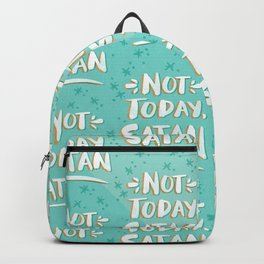 Not Today, Satan – Mint & Gold Palette Backpack