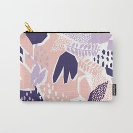Pastel Cut-Out Abstract Collage Carry-All Pouch