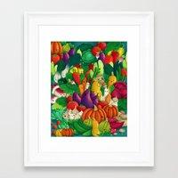 danny ivan Framed Art Prints featuring Nice People Eat Vegetables - background (Made with Danny Ivan) by Lidija Paradinović Nagulov - Celandine