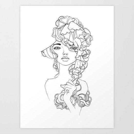 Girl#2 Art Print