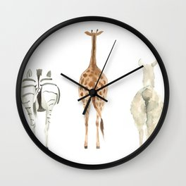 Cute animal butts Wall Clock