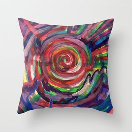 Rainbow Portal Throw Pillow