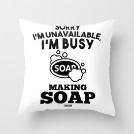 Soap bath curd soap Hobby Throw Pillow