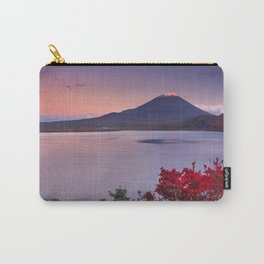 I - Last light on Mount Fuji and Lake Motosu, Japan Carry-All Pouch