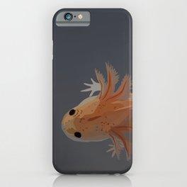 Axolotl Vector in Orange iPhone Case