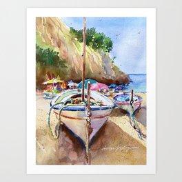 Day at the BEACH, Costa Brava, Spain Art Print