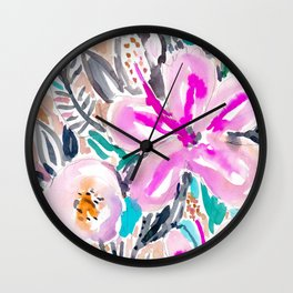 Gardens of Pacifica Hibiscus Floral Wall Clock