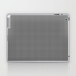Black and White Micro Houndstooth Check Laptop & iPad Skin