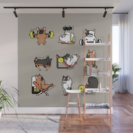 Leg Day with Frenchie Wall Mural