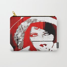 Vintage Women Pop/Grunge Red and Black (Gloria)  Carry-All Pouch