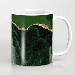 Beautiful Emerald And Gold Marble Design Coffee Mug