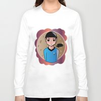 spock Long Sleeve T-shirts featuring Spock by hannahroset