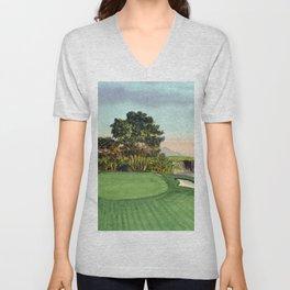 Pebble Beach Golf Course 5th Hole Unisex V-Neck