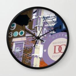 Capitol Hill - Washington, DC -  historic sign street art - DC photography Wall Clock