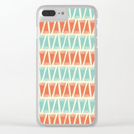 Tee Pee Retro Juice Clear iPhone Case