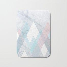 Snowy Peak on Marble Bath Mat