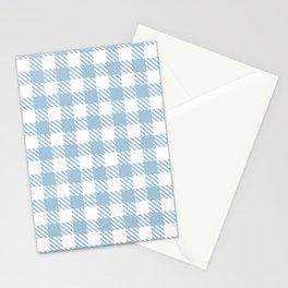 Plaid Pattern 512 Pale Blue Stationery Cards