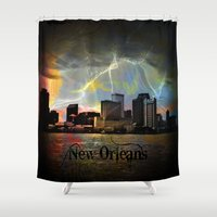 new orleans Shower Curtains featuring New Orleans by Kelly King