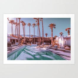 Affluent Luxe Style 2262 Mid-Century Modern Estate Palm Springs Architecture Art Print