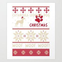 Catahoula Leopard Dog christmas gift t-shirt for dog lovers Art Print