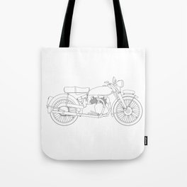 Motor Cycle Outline Tote Bag