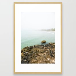 Bay of Pigs Playa Larga Cuba Caribbean Sea Ocean Beach Geology Limestone Tropical Island Fog Mist Ne Framed Art Print