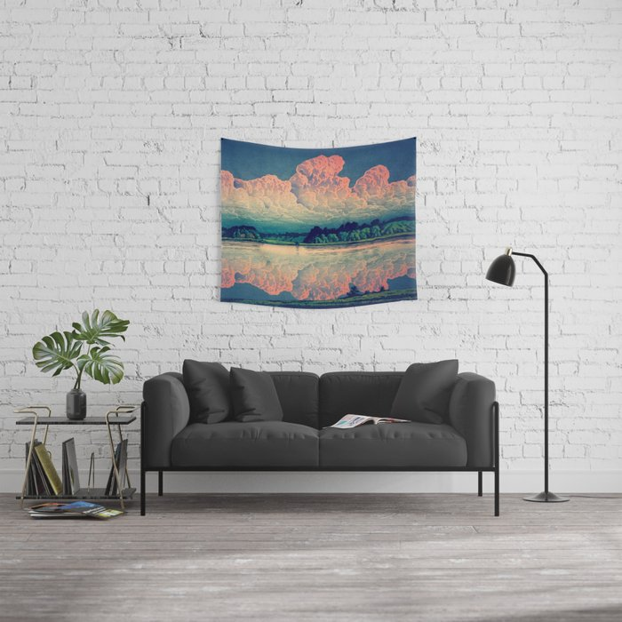 Admiring the Clouds in Kono Wall Tapestry