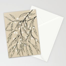 Line Drawing Leaves #3 Stationery Cards
